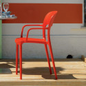 Chaise gipsy avec accoudoirs rouge