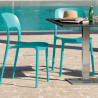 Chaise gipsy sans accoudoirs turquoise