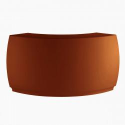 Banque d'accueil Round, élément d'angle, Proselec bronze Mat