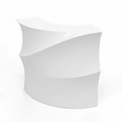 Banque d'accueil Wave, élément d'angle, Proselec blanc Laqué