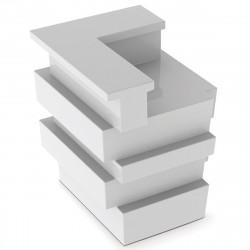 Elément d'angle Bar Tetris, Pedrali blanc Mat
