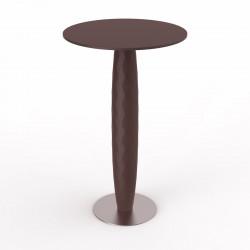 Table haute Vases, Vondom bronze Diamètre 60 cm