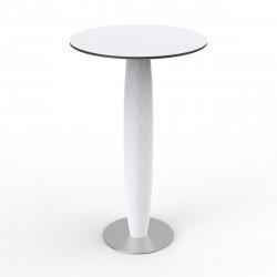 Table haute Vases, Vondom blanc Diamètre 60 cm