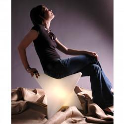 Tabouret lumineux Starlight, Slide design blanc
