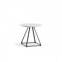 Table basse Lunar, Pedrali blanc Diamètre 60 cm