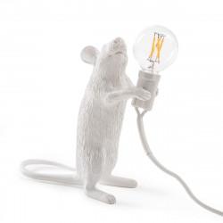 Lampe souris, à poser, Mouse Standing, Seletti blanc