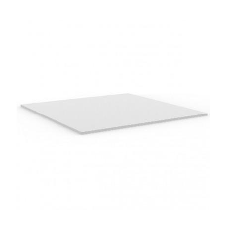 Plateau de table carré Mari-Sol ,Vondom blanc,bordure blanche 79x79 cm