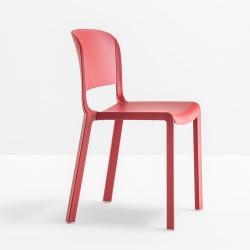 Chaise bistrot design, Dome 260, Pedrali, Rouge