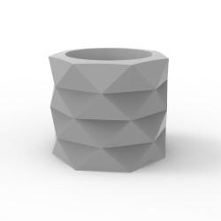 Pot de Jardin Marquis diamètre 60 cm x hauteur 50 cm, Vondom Gris Acier Mat