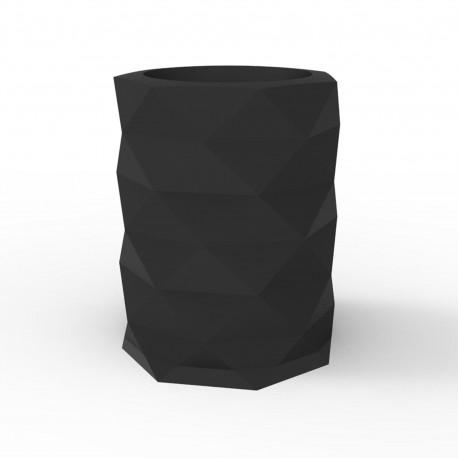 Pot de Jardin Marquis diamètre 80 cm x hauteur 100 cm, Vondom Noir Mat