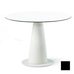 Table ronde Hoplà, Slide design noir D100xH72 cm