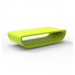 Table basse Bum Bum, Vondom vert pistache laqué brillant 148x68xH38 cm