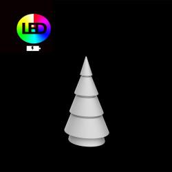 Sapin de Noel lumineux Forest, Vondom, hauteur 150 cm, éclairage multicolore Led RGBW, intérieur extérieur, batterie