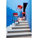 Set de 4 tabourets de bar Africa hauteur d'assise 74,5 cm, Vondom rouge