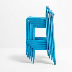 Lot de 2 Tabourets de bar Volt 677, Pedrali bleu, hauteur d'assise 66 cm