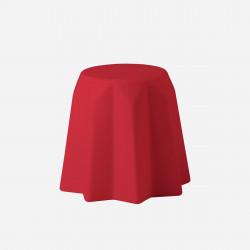 Tabouret, table basse Pandoro, Slide Design, rouge