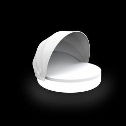 Lit de piscine design Ulm Daybed avec parasol, Vondom Lumineux Led Blanc, 180x40cm