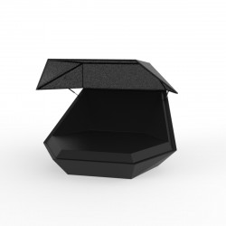Daybed chaise longue design avec Parasol Faz, Vondom noir