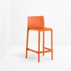 Lot de 2 Tabourets de bar Volt 678, Pedrali orange, hauteur d\'assise 76,5 cm