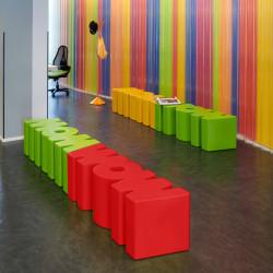 Banc Wow, Slide Design rouge Mat