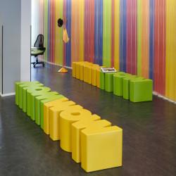 Banc Wow, Slide Design vert clair Mat