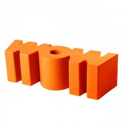 Banc Wow, Slide Design orange Mat