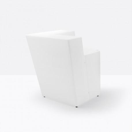 Élément d'angle bar Oblique, Pedrali Lumineux blanc