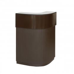 Bar Cordiale Corner marron chocolat, module d\'angle, Slide Design, L70 x P70 x H110 cm