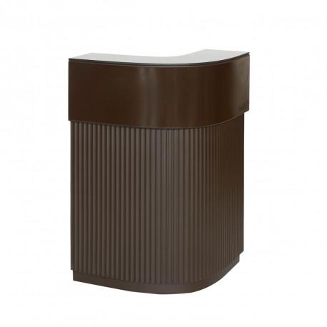 Bar Cordiale Corner marron chocolat, module d'angle, Slide Design, L70 x P70 x H110 cm