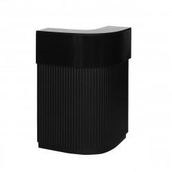 Bar Cordiale Corner noir, module d\'angle, Slide Design, L70 x P70 x H110 cm