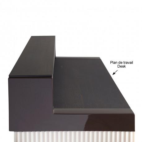 Plan de travail Cordiale Desk, HPL effet bois wengé, pour module droit de bar Cordiale, Slide Design