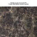 Tablette Cordiale Top, HPL effet Veneto Impérial, pour module droit de bar Cordiale, Slide Design