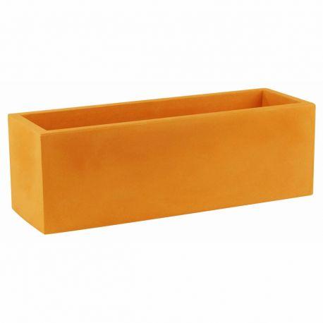 Jardinière rectangulaire 100 cm orange, Jardinera 100, Vondom, simple paroi, Longueur 100x40xH40 cm