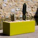 Jardinière rectangulaire grande taille Jardinera gris argent, Vondom, simple paroi, Longueur 120x50xH50 cm