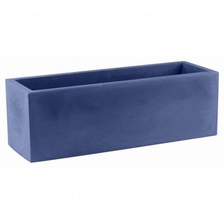Jardinière rectangulaire 100 cm bleu marine, Jardinera 100, Vondom, simple paroi, Longueur 100x40xH40 cm