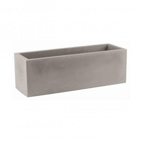Jardinière design rectangulaire 80 cm taupe, Jardinera 80, Vondom, simple paroi, Longueur 80x30xH30 cm