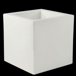 Pot de fleur Carré 80x80x80 cm, Lumineux à Leds Blancs, Vondom