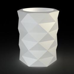 Pot de Jardin Marquis lumineux Leds blancs diamètre 80 cm x hauteur 100 cm, Vondom