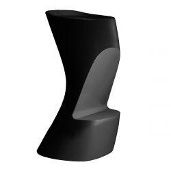 Tabouret de bar Moma High, hauteur d'assise 74 cm, Vondom noir
