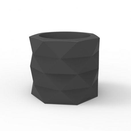 Pot de Jardin Marquis diamètre 60 cm x hauteur 50 cm, Vondom Gris Anthracite Mat