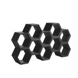Etagère alvéoles nid d'abeilles Honeycomb, noir