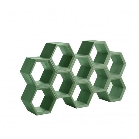 Etagère alvéoles nid d'abeilles Hexa, vert sauge