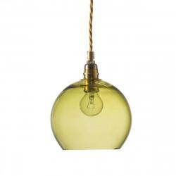 Suspension Rowan vert olive, diamètre 15,5 cm, Ebb & Flow, douille et câble dorés