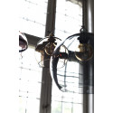 Suspension Rowan gris fumé, diamètre 15,5 cm, Ebb & Flow, douille et câble argents