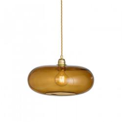 Luminaire suspension verre soufflé Horizon Toast, diamètre 36 cm, Ebb & Flow, douille et câble dorés