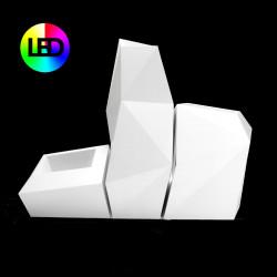 Lot de 3 pots diamants Faz Lumineux Leds RGBW, Vondom, Taille L
