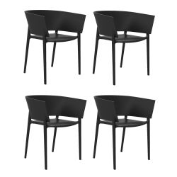 Set de 4 fauteuils Africa, Vondom noir