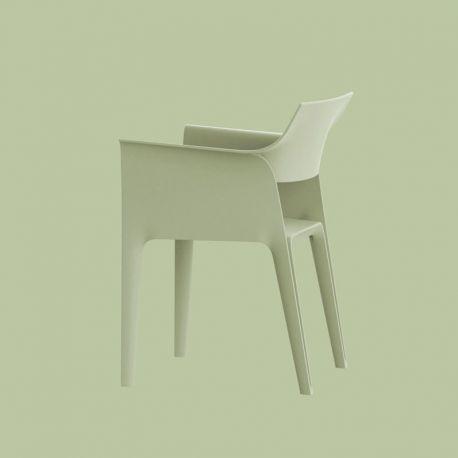 Lot de 4 chaises Pedrera, Vondom Vert Amande