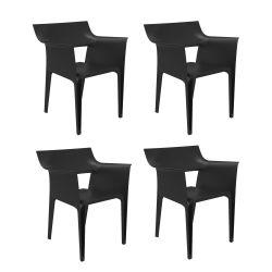 Lot de 4 chaises Pedrera, Vondom noir