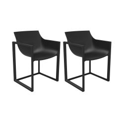 Lot de 2 chaises Wall Street, Vondom noir